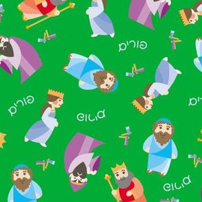 Kawaii Purim on Green