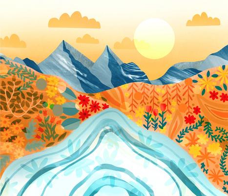 Funky Desert Landscape