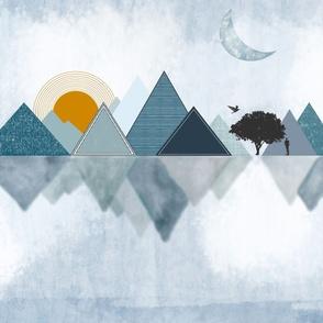 Abstract Mountain Range