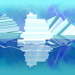 Icebergs Geometric Abstract Landscape Wall Hanging