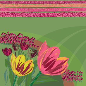 Tulip Abstract Landscape