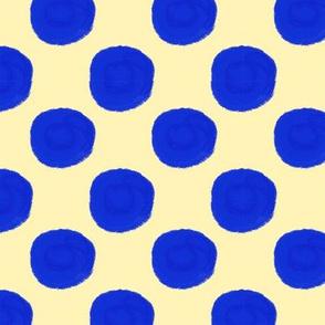 Blue Yellow Polka Dot