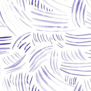 Amethyst watercolor brush stroke waves - purple abstract for modern scandi home decor, bedding, nursery
