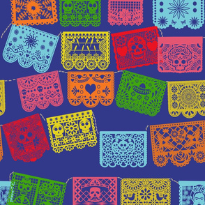 Papel Picado Banner fabric