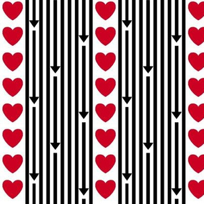 Hearts Arrows Stripe
