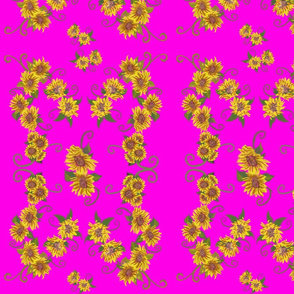Nouveau Meets VanGogh on Hot Pink by DulciArt,LLC
