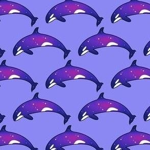 Purple Space Orca Killer Whale Ocean
