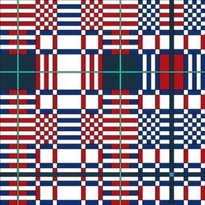 Modern Plaid - Red White & Blue