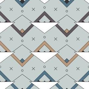 Zig Zag Triangles - Blue