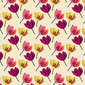 Tulip Fabric Artwork by Clarky Works