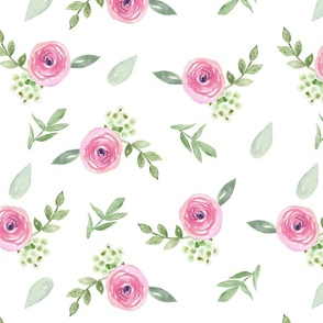 Pink Watercolor Floral