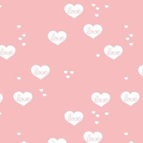 Little love & hearts valentine romance soft pink