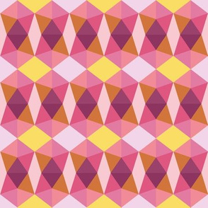 pentagons pink and yellow