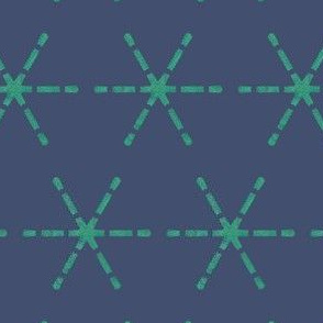 Dark Blue and Teal Mark the Spot
