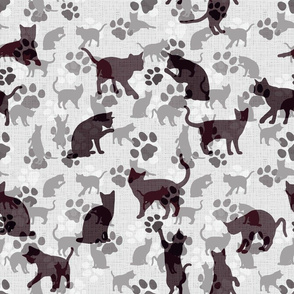 Cats and Paws, light-brown