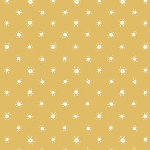 """.5"""" Dotted Suns on Yellow"""