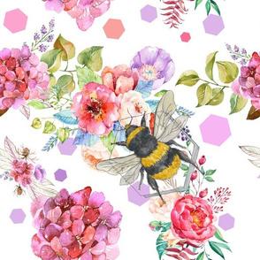 Bee Pattern - White