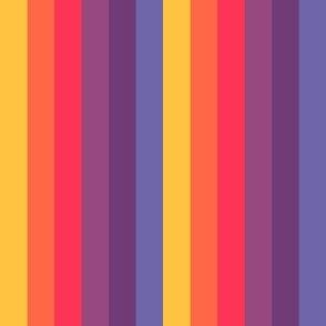 Sunset Chunky Stripe