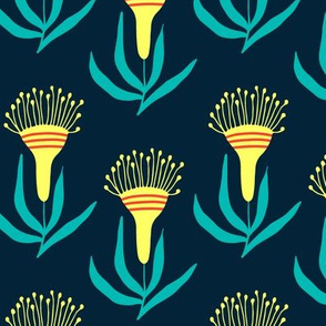 Yellow australian flowers