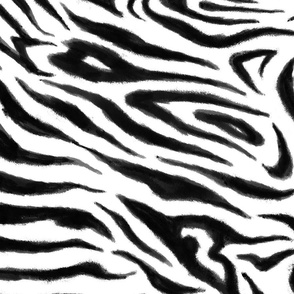 Painterly Abstract Zebra (Jumbo)