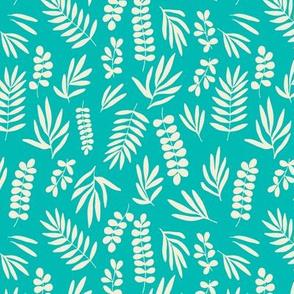 Turquoise sprigs