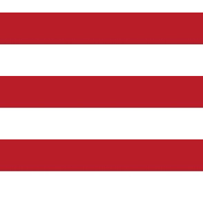 19-16r Large Red white horizontal stripe