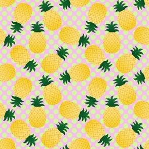 Polka Dot Ditzy Pineapples Kitsch