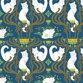 Cat Nouveau Pattern