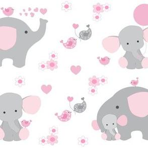 Pink Elephant Baby Girl Nursery
