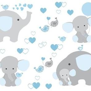 Blue Elephant Baby Boy Nursery