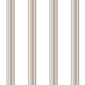 19-16c Taupe White French Stripe