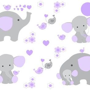 Purple Elephant Baby Girl Nursery