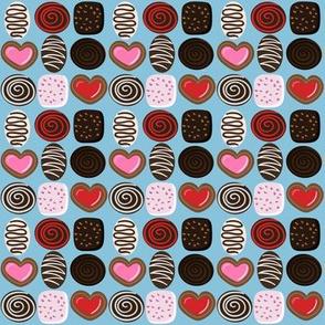 Valentine Chocolates - blue