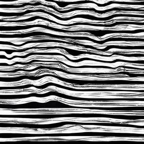 Black N White Abstract Ocean Waves (Jumbo)