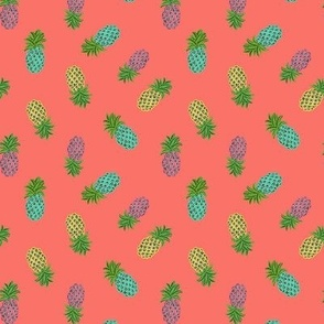 Pineapple on coral summer