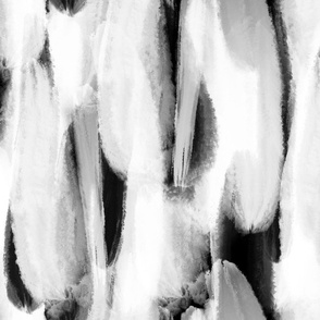 Black & White Brushstrokes