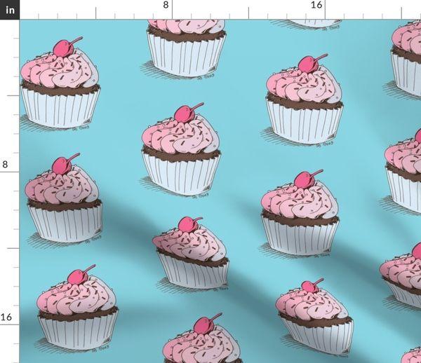 Buff Cupcake//Raspberry Polar Buff