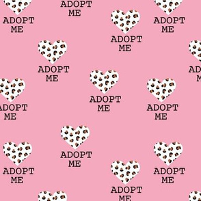 Adopt me pet love leopard cat hearts adoption dogs and cats good cause design pink