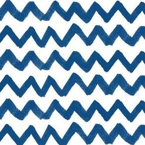 ink zig zag 4 stripes - classic blue