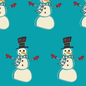 Snowman in Teal
