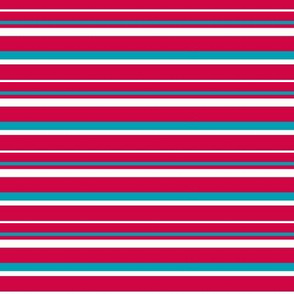 Red & Teal Stripes