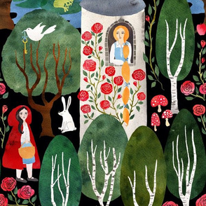 Fairytale woodland medium scale
