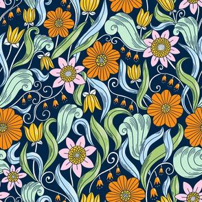 Art Nouveau style pattern