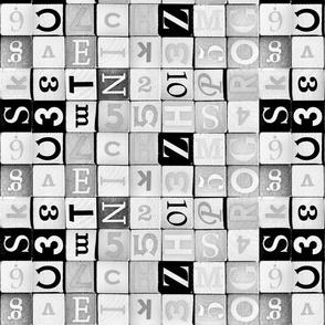 Black and white wooden cube - Jeu cubes en bois noir et blanc