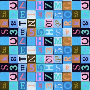 Blue Coloured wooden cube - Jeu cubes en bois colorés Bleu