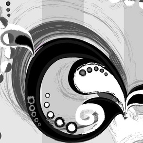 whirls and garlands - grey