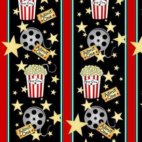 VIP Movie Night / Theater Popcorn / Movie tickets & Reels/ Stripes