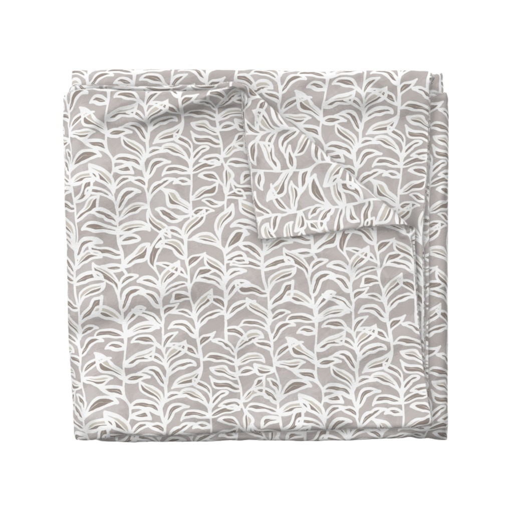 Wyandotte Duvet Cover featuring Summer Vine, Taupe by kateriley