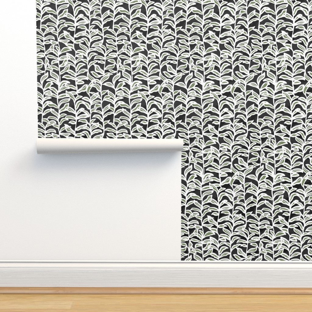 Isobar Durable Wallpaper featuring Summer Vine, Ebony by kateriley