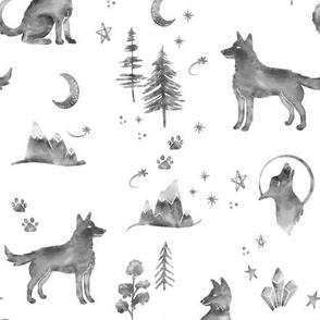 Gray Wolf Moon